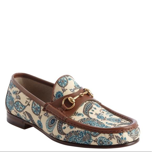 8ce8e6da35d529 Gucci Other - Gucci canvas paisley loafers men s size 8.5